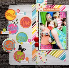 #papercraft #scrapbook #layout   Day-2 of the Simple Stories - Taylored Expressions Blog Hop Mar-14 - FUN & FABULOUS layout by Vicki Boutin on the Simple Stories Blog - LOVE the DIY Boutique Collection and Circle Word dies