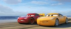 """Meet Two New Cars 3 Characters  -  January 5, 2017:     Cars 3:      OFF TO THE RACES — Disney•Pixar's """"Cars 3"""" is teaming up with NASCAR this year as crowd favorite Lightning McQueen (voice of Owen Wilson) prepares to return to the big screen June 16, 2017, alongside elite trainer Cruz Ramirez (voice of Cristela Alonzo). Details about the season-long collaboration, which marks the biggest between the """"Cars"""" franchise and NASCAR, were shared today...  More..."""