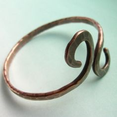 hammered copper jewelry | Hammered Forged Copper Bangle Bracelet Rustic by suntribedesigns, $38 ...