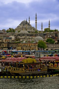 Istambul, Turquia / shot of Istanbul, Turkey from Galata Bridge Places Around The World, Oh The Places You'll Go, Places To Travel, Around The Worlds, Beautiful Places To Visit, Wonderful Places, Phuket, Turkey Travel, Istanbul Turkey