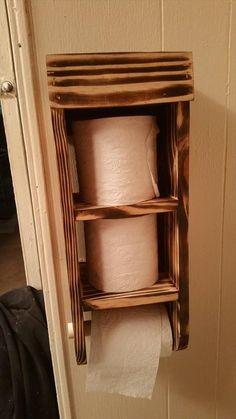 pallet toilet paper roll organizer - Diy Toilettenpapierhalter Stand