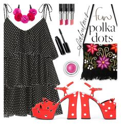 """So Dotty:  Polka Dots"" by juliehooper ❤ liked on Polyvore featuring Lisa Marie Fernandez, Yves Saint Laurent, NOVICA, Kate Spade, Stella & Dot, Laura Geller, Bobbi Brown Cosmetics, tarte, PolkaDots and polyvoreeditorial"