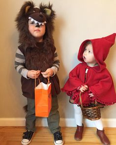 Little Red Riding Hood & the Wolf siblings costumes.