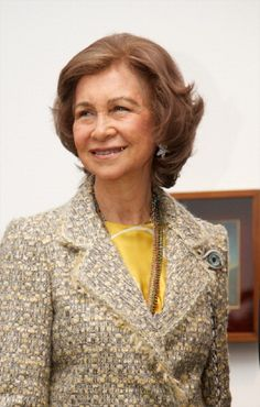 Queen Sofia of Spain attends Dali exhibition at Reina Sofia museum on 26 Apil 2013 in Madrid