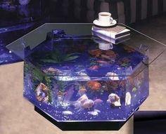 Most elegant coffee tables with builtin aquarium Hometone