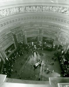 11/24/63: JFK lies in state in the Rotunda of the Capitol.