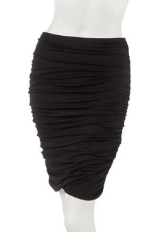 Pair this with your favorite band t-shirt or a leather jacket for a rocker vibe. Scrunch Skirt in Black from KOKOON $96