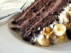 chocolate hazelnut layer cake - vegan