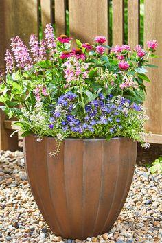 Northcroft Round Fluted Planter. #indoor #outdoor #planter #garden #gardening #containergarden #patio #porch #balcony #terrace #allweather #flowerpot