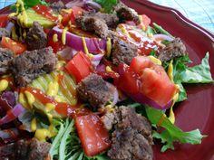 hamburger salad 7-21-10