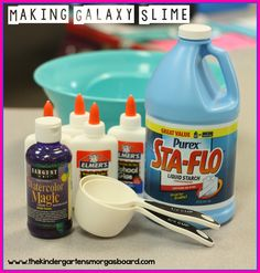 Smedley's Smorgasboard of Kindergarten: A Kindergarten Smorgasboard Mad Science Friday: Galaxy Slime!