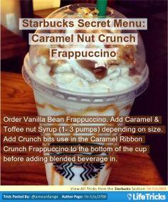 Starbucks Secret Menu: Caramel Nut Crunch Frappuccino