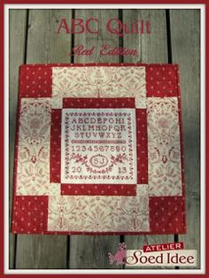 Another beautiful way to finish off a sampler.  All in red - LOVE! Soed Idee