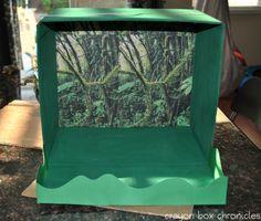 Rainforest Sensory Bin @ Crayon Box Chronicles