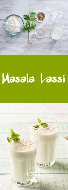 Masala Lassi( is one of the oldest beverages of India and a fun summer drink. It is just yogurt and water beaten together. It is seasoned with masala or spices to add different flavours of your choice. Indian Food Recipes, My Recipes, Cooking Recipes, Recipies, Drink Recipes, Best Mixed Drinks, Lassi Recipes, Look And Cook, Curd Recipe
