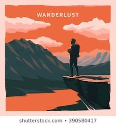 Web vector illustration on the theme of Climbing Trekking Hiking Walking. Sports outdoor recreation adventures in nature vacation. Travel Illustration, Nature Illustration, Ecuador, Nature Vector, Wanderlust, Camping Set, Nature Posters, Photo Images, Outdoor Recreation