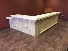 Up to 20' rustic retail sales counter, reception desk, pos area, or bar