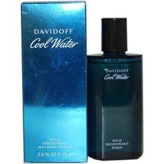 Cool Water by Davidoff Mild Deodorant Spray for Men 2.5 oz./ 75 ml., New In Box…
