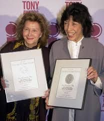 """At 74, actress Lily Tomlin has married 78-year-old writer Jane Wagner. After four decades together, the partners and collaborators married on New Year's Eve 2013. Tomlin gained fame in the 1960s, starred in movies like """"9 to 5"""" and """"All of Me,"""" and performed Wagner's material. Here, they celebrate their Tony Awards for the one-woman show, """"The Search for Signs of Intelligent Life in the Universe.b"""" Wagner also wrote the screenplay for her movie """"The Incredible Shrinking Woman."""" More at link."""