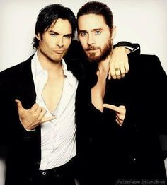 Ian Somerhalder and Jared Leto?!! In the same picture?!? My heart
