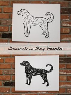DIY Geometric Dog Prints - Download Silhouette Cameo Cut File