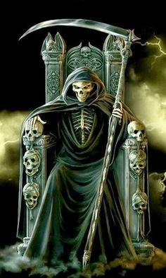 Horse Grim Reaper Tattoos Large Gallery Of Free Tattoo Designs Picture Pictures Don't Fear The Reaper, Death Reaper, Grim Reaper Art, Grim Reaper Tattoo, Dark Fantasy Art, Dark Art, La Muerte Tattoo, Skull Pictures, Skeleton Art