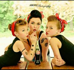#Rockabilly, #pinup, #photo, #family, #coca cola