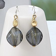Earthtone Earrings from Monroe and Main.   Let Nature's lustre offset your own natural glow.