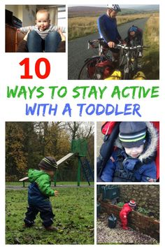 10 Ways to stay Active with a toddler - The Challenge of exercise with children is tough. Motivation is kind of out the window when you work out at home.