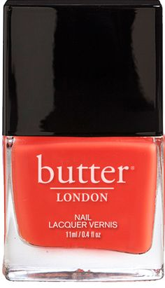 """Butter London: Nail Lacquer in """"Jaffa"""" / """"A juicy, orange nail lacquer that's seedless, but potent as Hell..."""""""