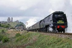 Bulleid Pacific at Corfe Castle May 1967