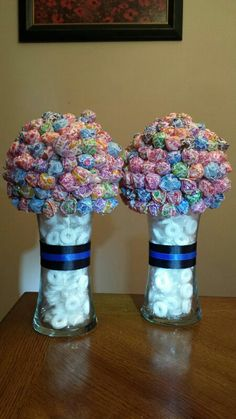 Sucker bouquets for local police depts -  National Police Week -