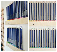 What a great idea for easy and pleasing organization.  I don't use colored pencils often, but I'd make a smaller version for sharpies and pens. Might even consider this for brushes and paints.  Can't wait to try it.