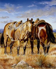 Sundown Ranch Horse Print from Original Oil by BrucknerCowboyArt, $18.99