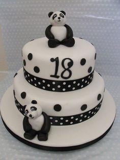 Cute Panda Birthday Cake images Panda Bear Cake, Bolo Panda, Panda Cakes, Panda Birthday Cake, Birthday Cake Girls, 35th Birthday, Diy Birthday, Panda Party, Bear Cookies