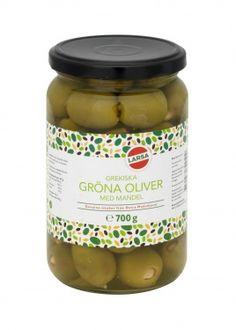 Gröna oliver med mandel | Larsa Foods
