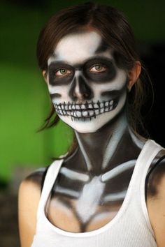 skeleton makeup by ~Realistic-Unicorn on deviantART