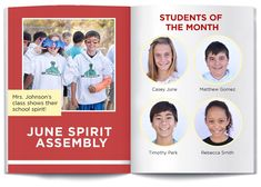 Create a yearbook that will be treasured forever with these 50 yearbook layout ideas. Filter through elementary, middle school and high school for guidance. Yearbook Pages, Yearbook Spreads, Yearbook Layouts, Yearbook Design, Magazine Layout Design, Book Design Layout, Design Design, Layout Template, Brochure Template