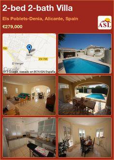2-bed 2-bath Villa in Els Poblets-Denia, Alicante, Spain ►€279,000 #PropertyForSaleInSpain