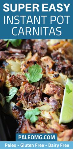 Are you looking for delicious instant pot meals that take less than 15 minutes of prep? Don't worry, we have your back! We will show you how to make instant pot Easy Paleo Dinner Recipes, Healthy Crockpot Recipes, Paleo Meals, Paleo Food, Eating Paleo, Paleo Diet, Healthy Cooking, Instant Pot Carnitas Recipe, Recipes