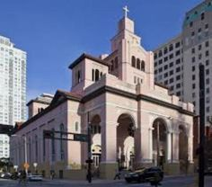Gesu Catholic Church in downtown Miami, Florida