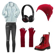 Fnaf phone guy night guard outfit by mangle87 on Polyvore featuring polyvore, fashion, style, Aéropostale, Ksubi, Dr. Martens, Marc by Marc Jacobs, Volcom and Beats by Dr. Dre
