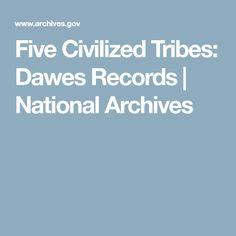 Five Civilized Tribes Dawes Records