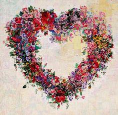 a pretty floral heart wreath <3