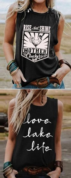 Mode Country, Look Fashion, Fashion Outfits, Cool Outfits, Summer Outfits, Trendy Outfits, Casual Tops For Women, Country Outfits, Cute Shirts