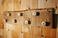 Mushroom Madness 7 knob Rustic Board by SplintersAndNails on Etsy, $36.50