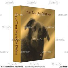 Black Labrador Retriever Mix Dog Personalized Binder