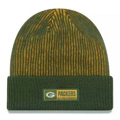 551f46cd391711 Green Bay Packers New Era Youth 2016 Sideline Official Tech Knit Hat - Green
