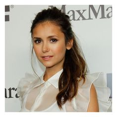 Get Nina Dobrev's Messy-Sexy Ponytail ❤ liked on Polyvore featuring hair and hairstyles