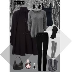 Winter look (by caoticana on Polyvore)
